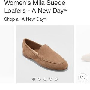 13c4c2b5c6d Target Mila suede loafers Sz 5.5 (fits like a 6)
